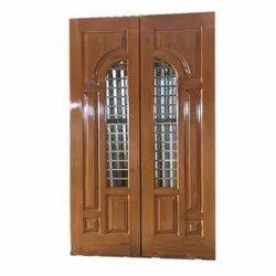 Laminated Teak Wood Double Door
