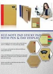 Eco Note Pad Sticky Pad With Pen And Day Display - Giftana