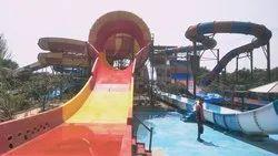 FRP(fibre reenforced plastic) Pool Amusement Park Water Slides, Rider Capacity: 150, 30