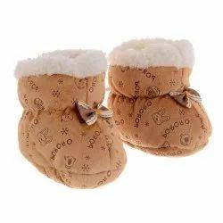 Brown Woolen Baby Shoes, Packaging Type: Packet
