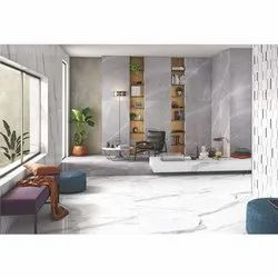White Rectangular Glossy Wall Tile, Size: 30 * 60 In Cm, Thickness: 9 Mm