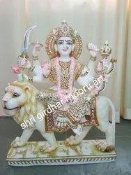Vaishno Devi White Marble  Statue