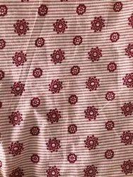Printed Nikunj Cotton Kurti Fabric, Packaging Type: Roll, GSM: 100-150 GSM