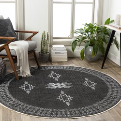 WOVENDREAMS Wool Printed Floor Rugs, For Home, Size: 5ft X 8ft