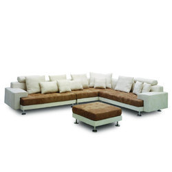 Modern Style Tufted Sectional Sofa At