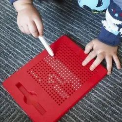 Plastic Red Magnetic Drawing Board Educational Toys