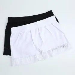 White and Black Ladies Cotton Panty, Size: 90 cm