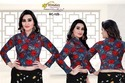 Printed Home Wash Ladies Winter Woolen Designer Blouse