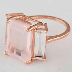 Rose Quartz Sterling Silver India Rings