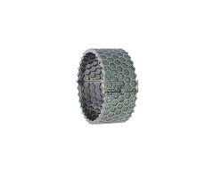 Tsavorite Diamond Cuff Bangle