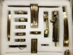 Designer Brass Aldrop Door Kit, Rod Thickness: 15 Mm