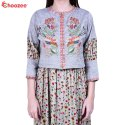 Gorgy Long Gown with Embroided Jacket
