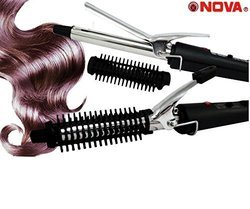 Nova Nhc-471b Hair Curling Iron Electric Hair Curler 15w (278-35)
