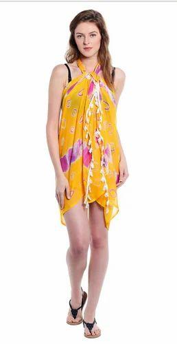 Women Printed Chiffon Sarong Beach Cover Up