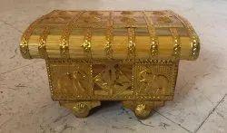 Traditional Handmade Sagwood Jewellery Box For Wedding Gifts