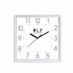 White Square Wall Clock