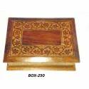 Brown Rectangular Wooden Fancy Jewellery Box