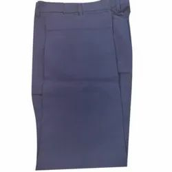 Regular Fit Blue Mens Cotton Pant, Packaging Type: Packet