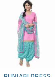 THE URBANIC Semi-Stitched Punjabi Dress, Handwash