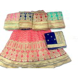 Net Party Wear Embroidered Ghagra Saree