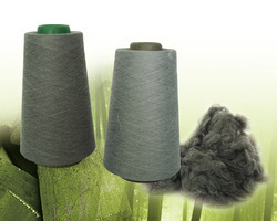 Bamboo Charcoal Yarn (Black, White & Grey), Packaging Size: Carton And Pallet Packing