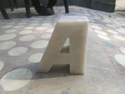 White Marble Alphabet