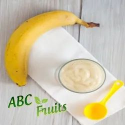 ABC Fruits Creamy White Natural Banana Pulp/Puree, Packaging Type: Drum, Packaging Size: 215 Kgs