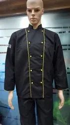 Black Chef Uniforms With Yellow Piping- CSU-2220
