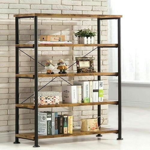 Wooden Metal Frame Bookshelf