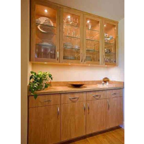 Kitchen Cabinets Kochi: Glass Crockery Cabinet At Rs 525 /square Feet