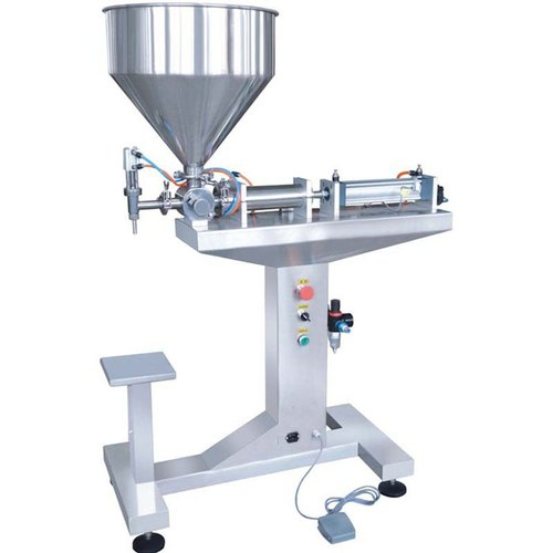 Stainless Steel Single Head Semi Automatic Sauce Filling Machine -  Pneumatic, 1-2 HP, | ID: 17232514162