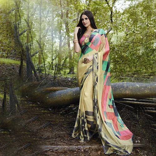 bc80c5d354 Satin Banarasi Silk Printed Sarees, Rs 840 /piece, Sanskar Textrade ...