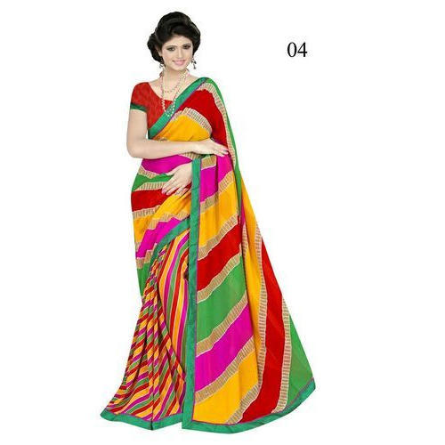bd2cb0c0ec Balaji Sarees Print Bandhani Saree, 6.3 Meter With Blouse Piece, Rs ...
