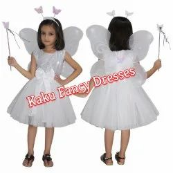 Kids Butterfly White Costume