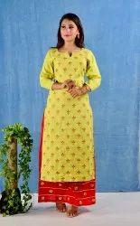 Rayon Embroidered Regular Wear Kurti