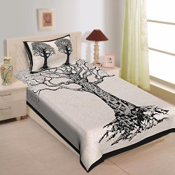 2 Single Bed Sheet with 2 Pillow Cover Set