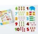 Arithmetic Digital Card Pairing Number and Animal Puzzle Digital Wooden Blocks Board Game