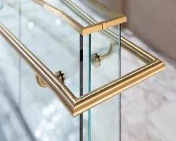 Brass Glass Railing