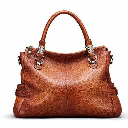 Mynox Brown Ladies Synthetic Leather Bag