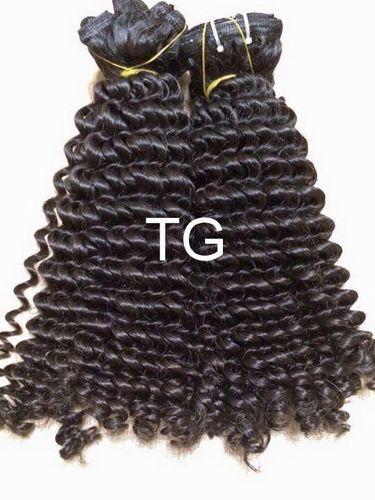 Tg Black Peruvian Curly Hair, Packaging Size: 10' -30' , Plastic Packaging