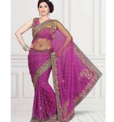 Traditional Party wear Fancy Net Saree