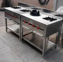 Commercial Two Burner Cooking Range