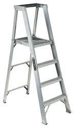 Aluminium Self Support Ladder With Pipe Steps