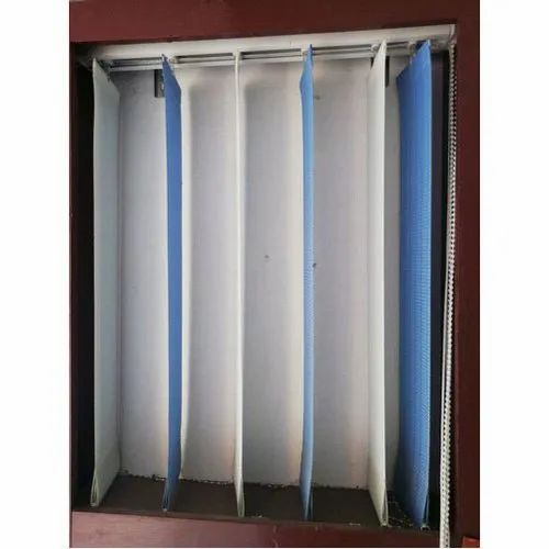 Blue And White Pvc Panel Curtain Blind