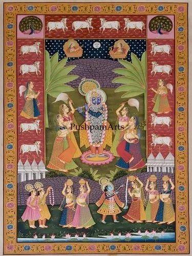 Shrinathji Pichwai for Wall Hanging, Rs 7500 /piece Pushpam Arts | ID:  21621823862