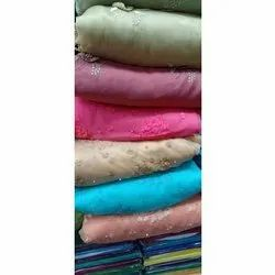 Riddhi Siddhi Synthetic Fabric Fancy Synthetic Dress Material, Gsm: 150-200
