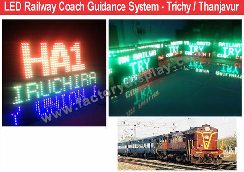 Coach Guidance Board LED Railways