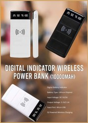 Digital Indicator Wireless Power Bank 10000mAH