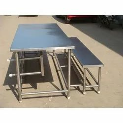 SBK Silver Canteen Table, Seating Capacity: 6 Or 8 People