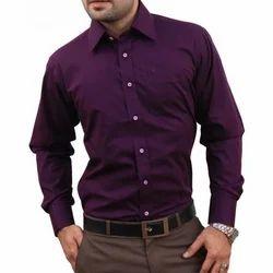 Purple Cotton Mens Plain Shirt, Size: XL